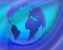 Abstract image of the globe closeup Royalty Free Stock Images