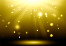 Abstract image of gold lighting flare on the floor stage : Fill. Object Stock Illustration