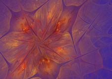 The abstract image of golden-red flowers. On a lilac background Stock Images