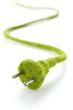 Abstract image of green electric plug Royalty Free Stock Photo