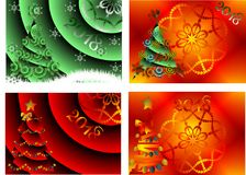 Abstract image,Greeting Card. Happy New Year and Merry Christmas royalty free illustration