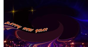 Abstract image happy new year with a starry night sky stock photo