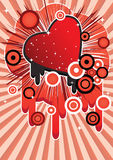 Abstract image with a heart Royalty Free Stock Image