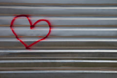 Abstract image of the heart on a metal fence Stock Images