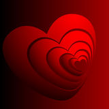 Abstract image hearts Stock Image