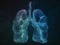 The abstract image human lungs in form of lines Stock Photos
