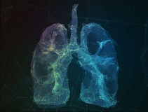 The abstract image human lungs in form of lines Stock Photo