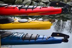 Abstract image of Kayaks Stock Photography