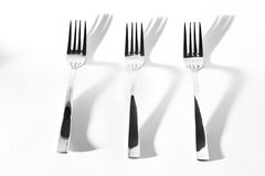 Abstract image for kitchen. Three Fork shadow Stock Images