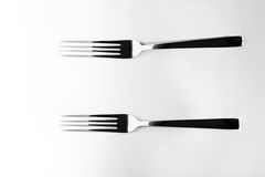 Abstract image for kitchen. Two Fork shadow Royalty Free Stock Image