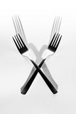 Abstract image for kitchen. Two Fork shadow Royalty Free Stock Images