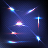 Abstract image of lighting flare. Set. Vector illustration Royalty Free Stock Images