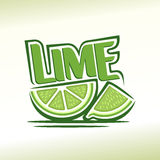Abstract image of a lime Stock Photography