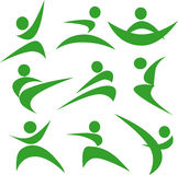 Abstract image of Martial arts. Action,green Stock Images