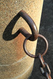 Abstract image from metal chain and shadow Royalty Free Stock Image