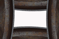 Abstract image. Of metal structures Stock Image