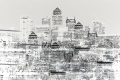 Abstract image of modern city life stock image