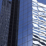 Abstract image of modern office building facade with reflections Stock Photography