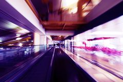Abstract image a moving escalator Royalty Free Stock Photography