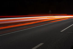 Abstract image of night traffic Royalty Free Stock Photo