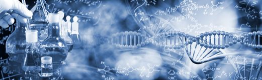 Free Abstract Image Of Dna Chain On Blurred Background Stock Photo - 159215420