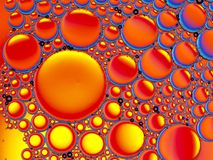 Abstract image of oil droplets Stock Photo