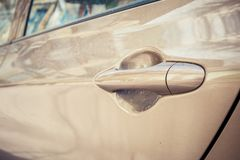 Abstract image of old car door handle. Royalty Free Stock Images