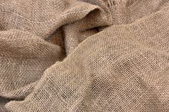 Old Folded Burlap Fabric Stock Images