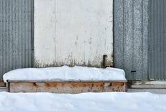 Snowed in Door Steps. Royalty Free Stock Photos