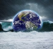 Earth under water Royalty Free Stock Photo