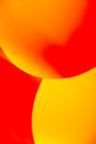 Abstract image paper shapes yellow red Stock Photo