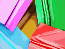 Abstract image of pieces of fabric. Can be used as wallpaper or background Stock Photography