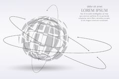 Abstract image of a planet Earth in the form of a starry sky or space, consisting of points, lines, and shapes in the Stock Images