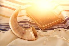Abstract image of Prayer Shawl - Tallit, jewish religious symbol.  Royalty Free Stock Photos