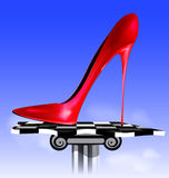 Abstract image of red shoe Royalty Free Stock Photos