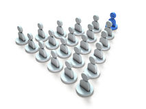 An abstract image representing a leader leading the crowd. Royalty Free Stock Images