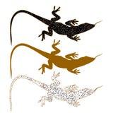 Abstract image of Sand lizard agilis. Logo set. Stock Images