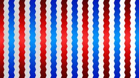 Seamless Shiny Interlaced Blue and Red Zigzag Stripes Texture in Gradated Gray Background vector illustration