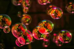 Abstract image of soap bubbles Royalty Free Stock Image