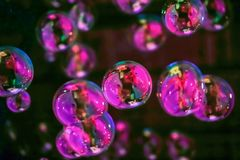 Abstract image of soap bubbles Royalty Free Stock Photo