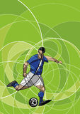 Abstract image of soccer player with ball Stock Image