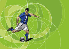 Abstract image of soccer player with ball Stock Photos