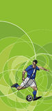 Abstract image of soccer player with ball Royalty Free Stock Photos