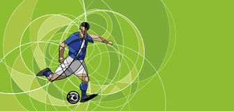 Abstract image of soccer player with ball Stock Photography