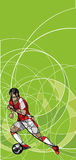 Abstract image of soccer player with ball Royalty Free Stock Photo