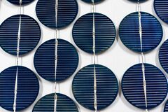 Abstract image of solar panels details