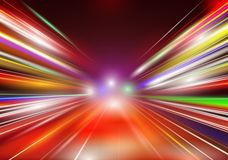Abstract image of speed motion. On the night road. Vector Royalty Free Stock Image