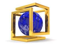Abstract image. Sphere and symbol of Infinity Royalty Free Stock Photos