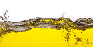 An abstract image of spilled oil Royalty Free Stock Photo
