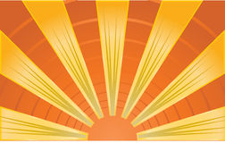 Abstract image of sunrays Royalty Free Stock Photo